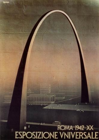 Poster for  1942 Esposizione Universale Expo. Rome.