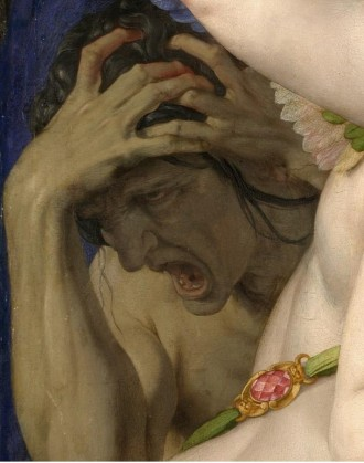 Bronzino (Allegory with Venus and Cupid, detail) 1546.