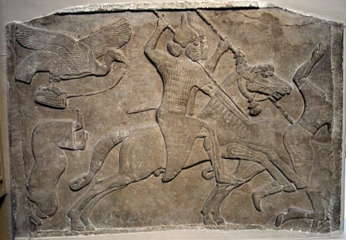 Assyrian relief from Nimrud, 728 BC.