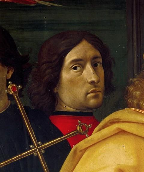 Domenico Ghirlandaio (1488, detail from Adoration of the Magi. Self portrait?)