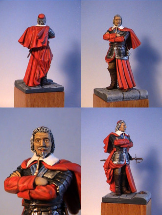 *Cardinal Richelieu*, Prestige Minatures, for sale at toy stores near you.