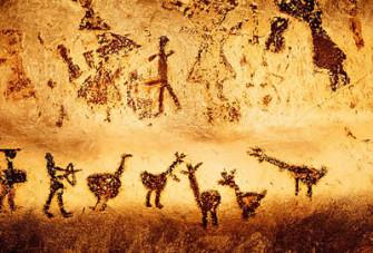 Paleolithic art, Magura Cave, Bulgaria.