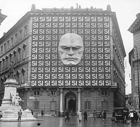 Palazzo Braschi, Poster for Fascist party. 1934.