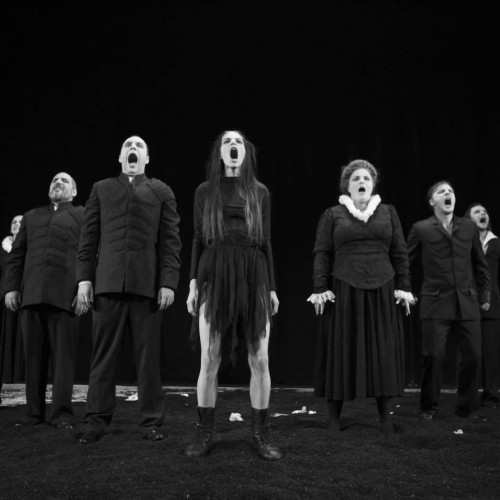Hamletmachine (Heiner Muller). la Teatrul National Iasi,. Giorgos Zamboulakis dr. 2013.