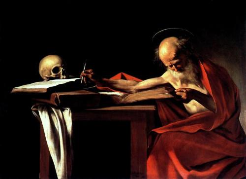 Caravaggio (St Jerome Writing,  1605)