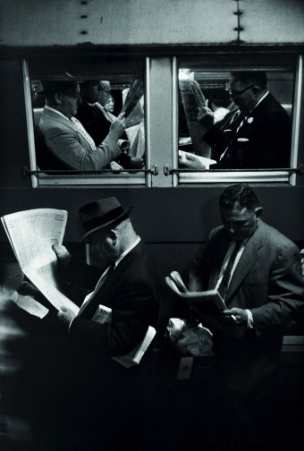 Louis Stettner, photography. (Penn. Station, 1958).