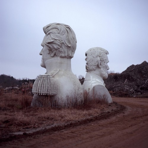 Patrick Joust, photography. (Decommissioned statues meant for President's Park, Houston).