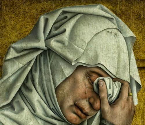 Rogier Van der Weyden (Descent from the Cross, detail. 1435)
