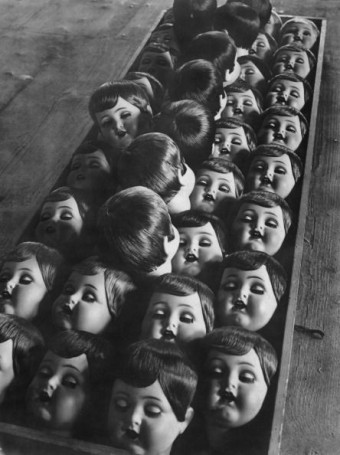 Doll's Heads, 1950s. Photographer unknown.