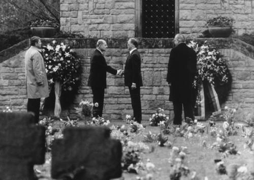 Reagan and Kohl, Bitburg 1985.