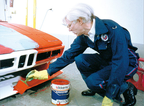 "Warhol painting car for ""Happneing"", 1979."