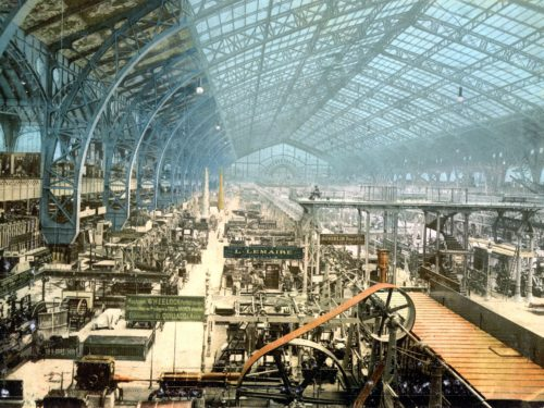 Exposition building, Paris 1887. *Gallery of the Machines*.