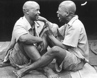 John Kani and Wilson Ntshona in Fugard's Sizwe Bonzi is Dead.