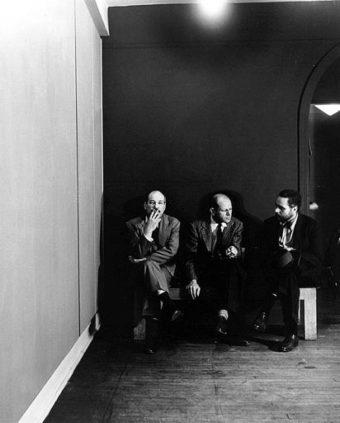 Barnett Newman, Jackson Pollock, and Tony Smith. Parsons Gallery April 51.