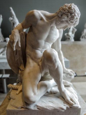 Pierre Julien, 1779. (Dying Gladiator, alabaster). Photo Y. Caradec.