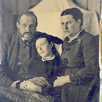 Victorian death portrait. Date unknown.