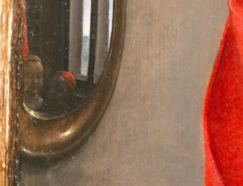 Hans Memling (1480's). Virgin and Christ Child (detail of the so called third mirror).
