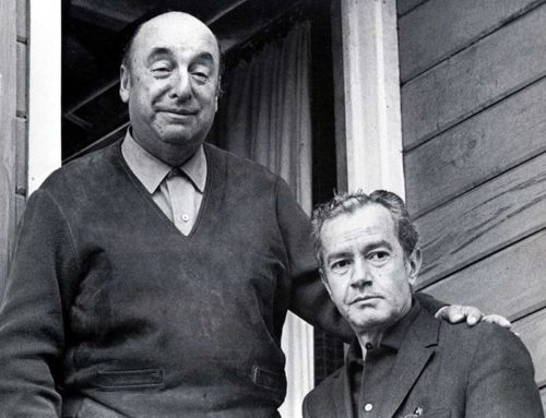 Pablo Neruda and Juan Rulfo (photo by Sara Facio).
