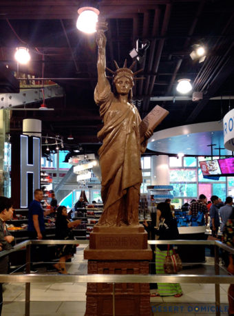 Hershey chocolate statue of Liberty, Las Vegas.