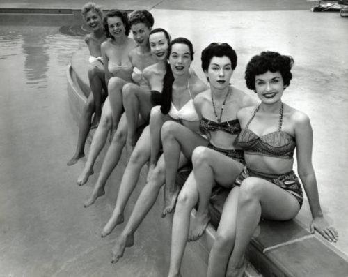 Showgirls, Dunes Hotel, Las Vegas, 1955.