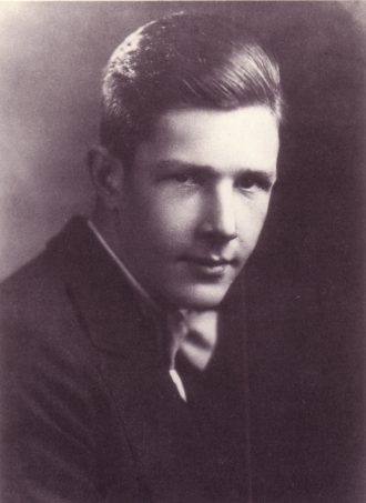 John Cage, high school portrait.