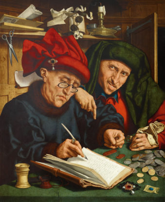 Quentin Massys (Tax Collectors, early 16th century, Flemish).