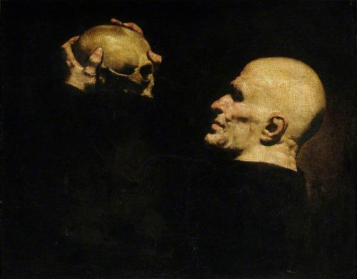 Jusepe de Ribera, (Man with a Skull; 1630).