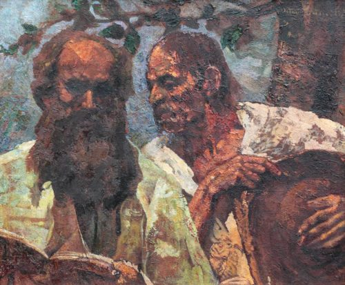 Octav Bancila. (The Confession of the Peasant, 1925).