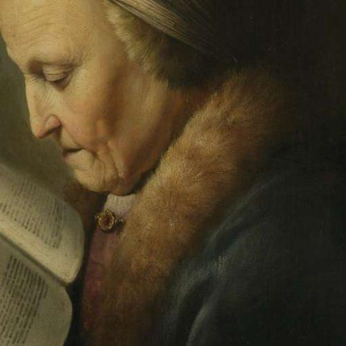 Gerrit Dou (1631). Detail.